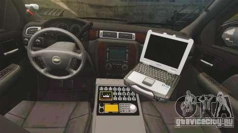 Chevrolet Tahoe Police [ELS] для GTA 4 вид сзади