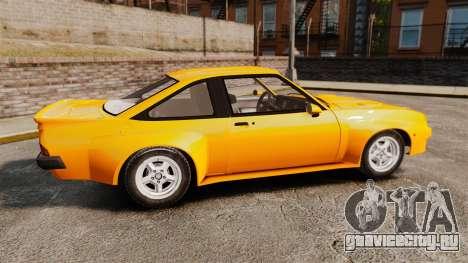 Opel Manta для GTA 4 вид слева