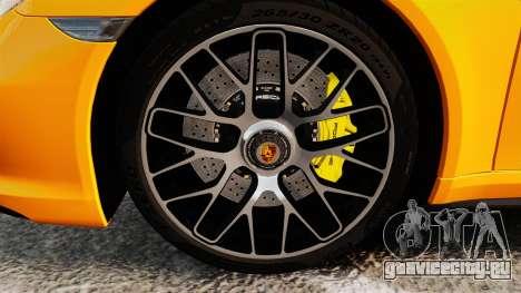 Porsche 911 Turbo 2014 [EPM] для GTA 4 вид сзади