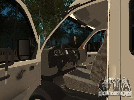 ГАЗель 33023 Бизнес для GTA San Andreas вид сзади