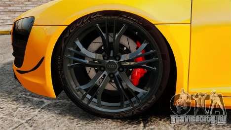 Audi R8 GT Spyder для GTA 4 вид сзади