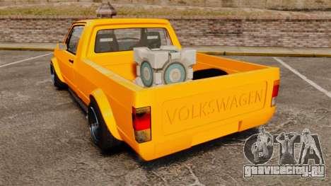 Volkswagen Caddy для GTA 4 вид сзади слева