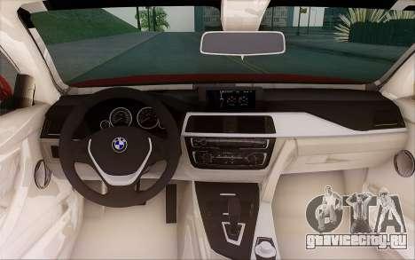 BMW 435i для GTA San Andreas вид изнутри