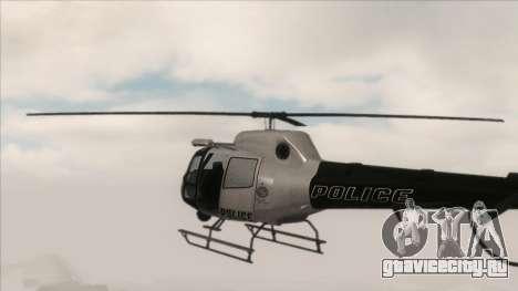 Police Maverick from GTA V для GTA San Andreas вид сзади слева