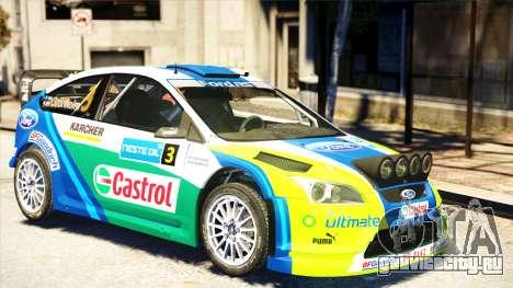 Ford Focus RS M Gronholm Rally Finland WRC для GTA 4 вид сзади слева