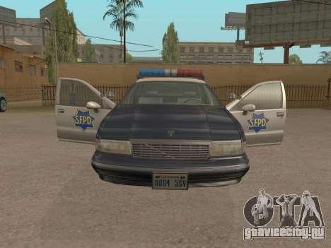 Chevrolet Caprice SFPD 1991 для GTA San Andreas вид сзади слева
