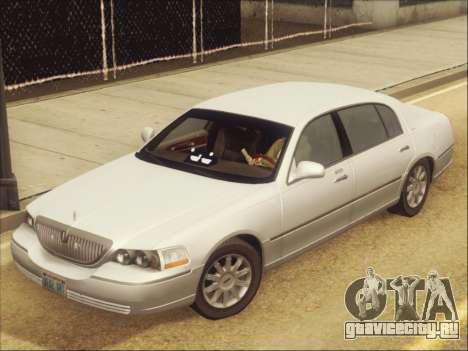 Lincoln Town Car 2010 для GTA San Andreas вид изнутри