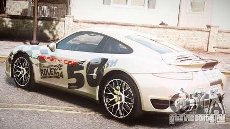 Porsche 911 Turbo 2014 для GTA 4 вид изнутри