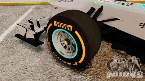 Mercedes AMG F1 W04 v3 для GTA 4 вид сзади