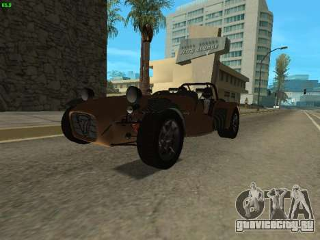 Caterham 7 Superlight R500 для GTA San Andreas вид справа