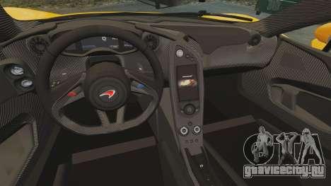 McLaren P1 2014 [EPM] для GTA 4 вид изнутри
