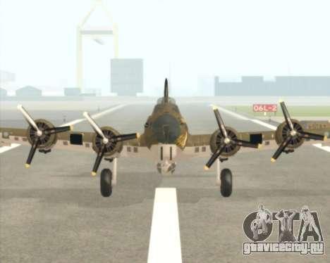 B-17G для GTA San Andreas вид слева
