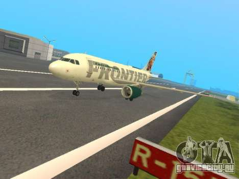 Airbus A319-111 Frontier Airlines Red Foxy для GTA San Andreas