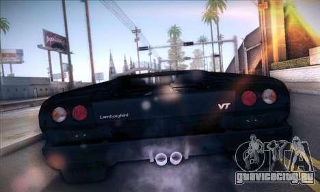 Lamborghini Diablo VT6.0 для GTA San Andreas вид сзади слева