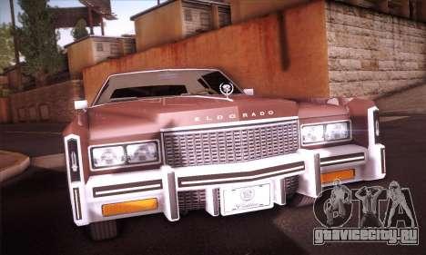 Cadillac Eldorado 1978 Coupe для GTA San Andreas вид сзади