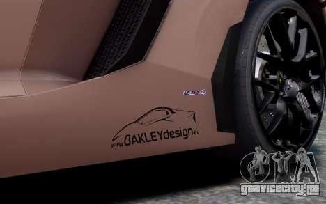 Lamborghini Aventador LP760-4 Oakley Design для GTA 4 вид сбоку
