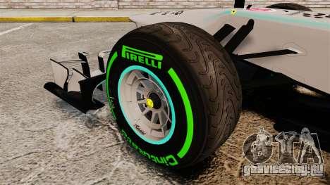 Mercedes AMG F1 W04 v4 для GTA 4 вид сзади