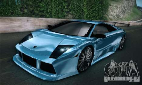 Lamborghini Murcielago GT Coloured для GTA San Andreas вид сзади слева