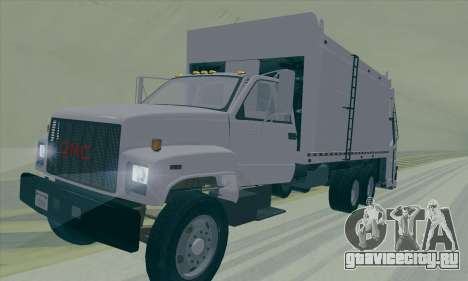GMC C550 Topkick Trashmaster для GTA San Andreas вид сзади
