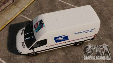 Mercedes-Benz Sprinter US Mail для GTA 4 вид справа