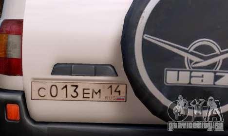 УАЗ 3160 для GTA 4 вид справа