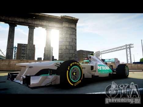 Mercedes F1 W04 для GTA 4