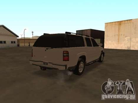 Chevrolet Suburban ATTF для GTA San Andreas вид справа