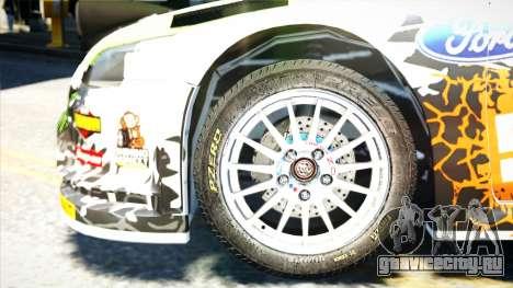 Ford Focus RS Monster World Rally Team WRC для GTA 4 вид справа