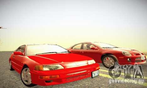 Honda CRX - Stock для GTA San Andreas вид сзади