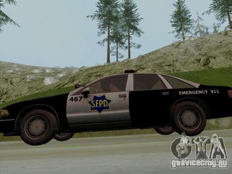 Chevrolet Caprice SFPD 1991 для GTA San Andreas вид сбоку