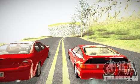 Honda CRX - Stock для GTA San Andreas вид справа