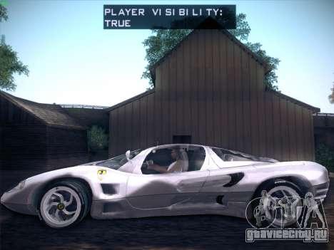 Ferrari P7 Chromo для GTA San Andreas вид сзади