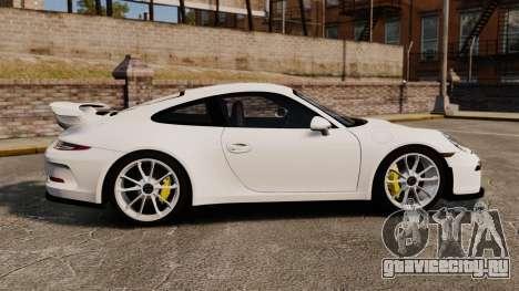 Porsche 911 GT3 (991) 2013 для GTA 4 вид слева