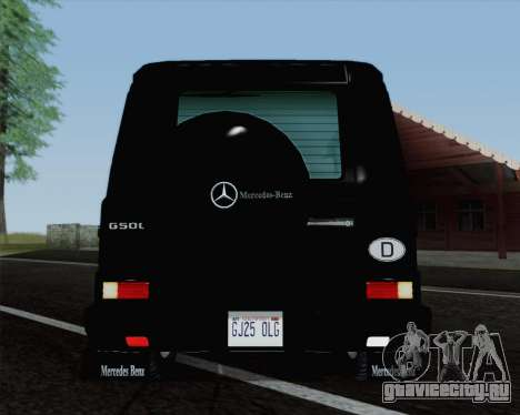 Mercedes-Benz G500 1999 Short для GTA San Andreas вид сзади