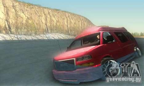 GMC Savana для GTA San Andreas салон
