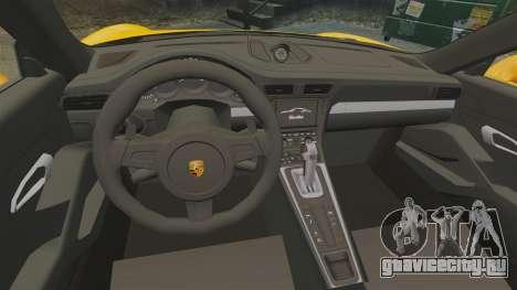 Porsche 911 Turbo 2014 [EPM] для GTA 4 вид изнутри