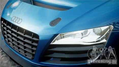 Audi R8 LMS для GTA 4 вид снизу