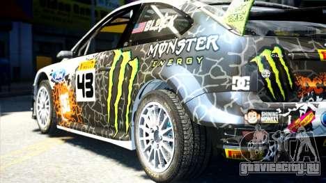 Ford Focus RS Monster World Rally Team WRC для GTA 4 вид слева