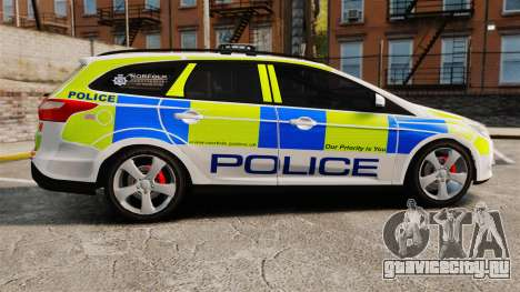 Ford Focus Estate Norfolk Constabulary [ELS] для GTA 4 вид слева