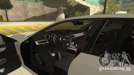 BMW M5 E60 для GTA San Andreas вид изнутри