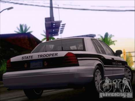Ford Crown Victoria San Andreas State Trooper для GTA San Andreas вид снизу