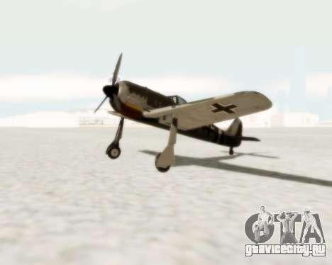 Focke-Wulf FW-190 A5 для GTA San Andreas вид слева