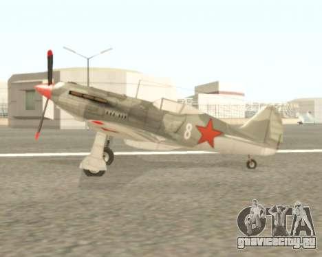 МиГ-3 для GTA San Andreas вид сзади слева