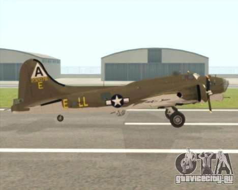 B-17G для GTA San Andreas вид сзади слева