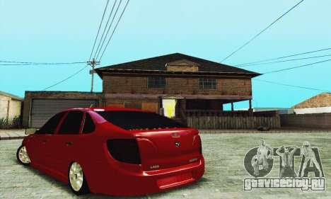 Лада Гранта Хетчбэк для GTA San Andreas вид сзади