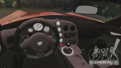 Dodge Viper SRT-10 2003 для GTA 4 вид изнутри