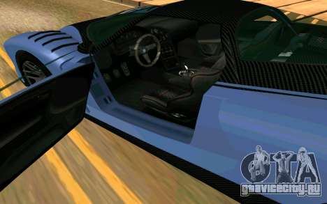 Cheetah из GTA 5 для GTA San Andreas вид сзади слева