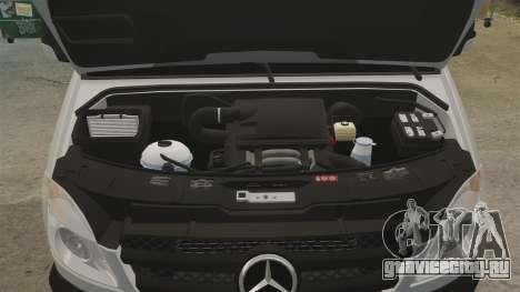Mercedes-Benz Sprinter 2500 Delivery Van 2011 для GTA 4 вид изнутри