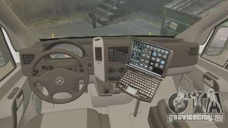 Mercedes-Benz Sprinter 2500 Prisoner Transport для GTA 4 вид сзади