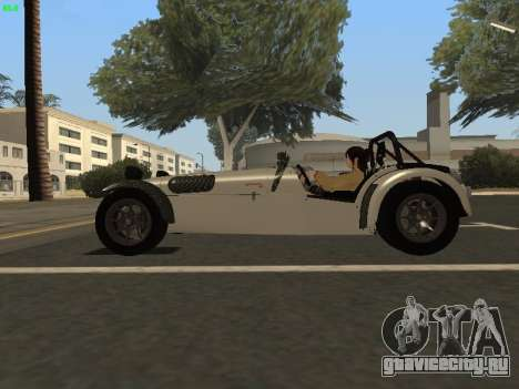 Caterham 7 Superlight R500 для GTA San Andreas вид слева
